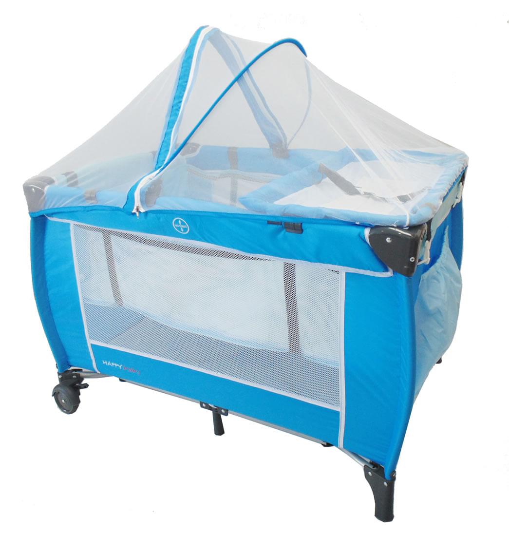 Corral cuna con mosquitero azul happy baby pepe ganga - Comprar cambiador bebe ...