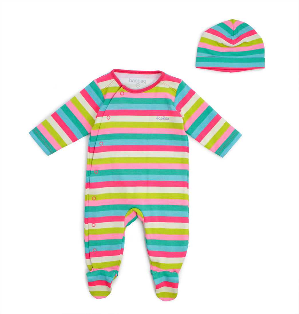 88b68bc91 Set Pijama Enteriza Y Gorro - Bebés Baobao - Pepe Ganga - Baby Ganga