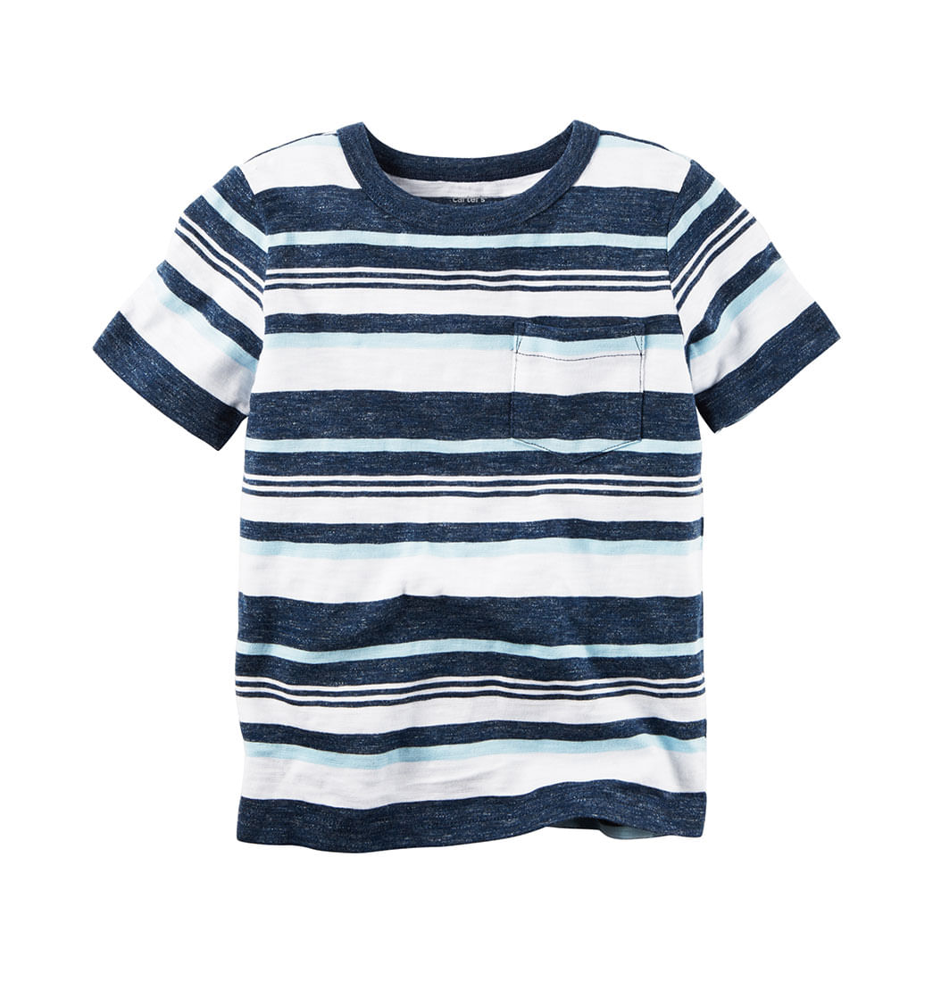36b07d9ff5 Camiseta manga corta a rayas - Infantil