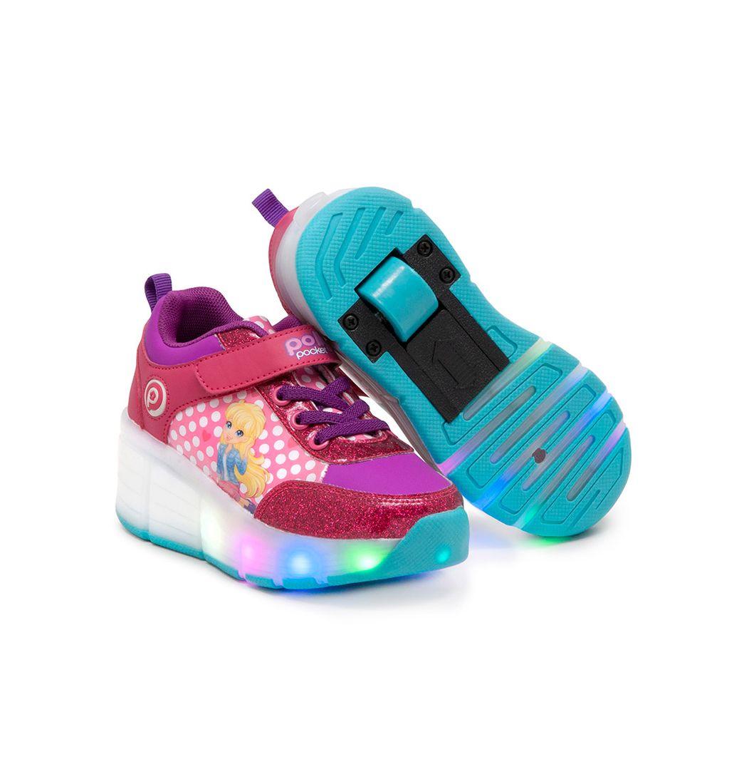 Zapatos Ruedas Polly Pocket Talla 31 Ros